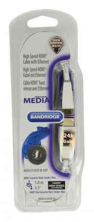 Bandridge HDMI in Ethernet - HDMI mini kabel 1 m (BBM34500W10)