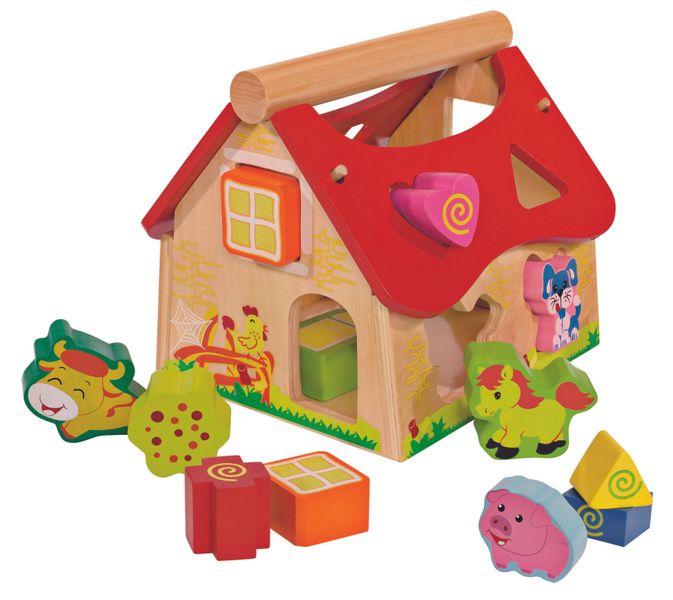 Eichhorn Dřevěný veselý domeček - vkládačka