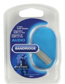 Bandridge 3.5mm F - 2.5mm M stereo avdio adapter (BAP211)
