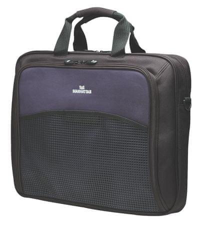 """Manhattan torba za prenosni računalnik Cologne 43,2 cm (17""""), črno/modra"""