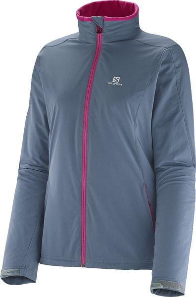 Salomon Nova Softshell Jacket W Bleu Gris M