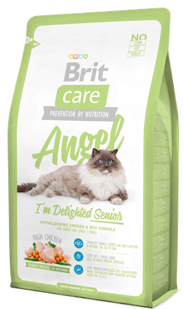 Brit Care Cat Angel I´m Delighted Senior hrana za starejše mačke, 2 kg