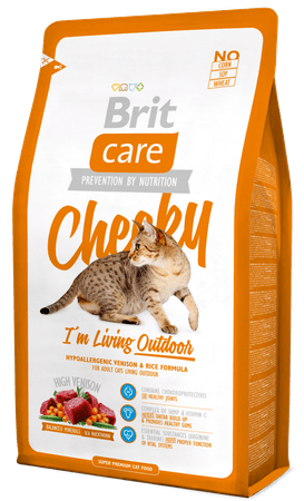 Brit Care Cat Cheeky I´m Living Outdoor hrana za zunanje mačke,  2 kg