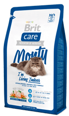 Brit sucha karma dla kota Care Cat Monty I´m Living Indoor - 7 kg