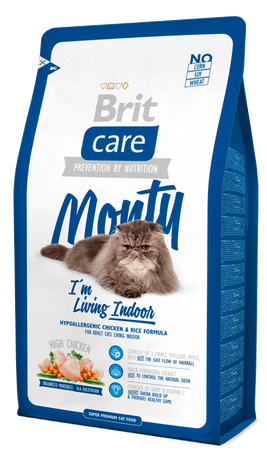 Brit Care Cat Monty I´m Living Indoor hrana za notranje mačke 7 kg