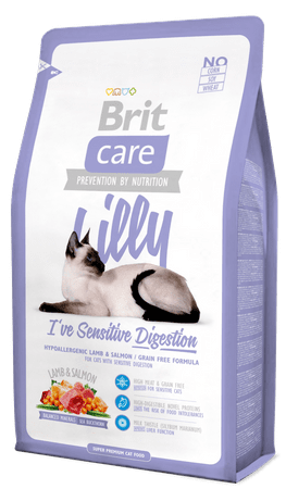 Brit Care Cat Lilly I´ve Sensitive Digestion Macskatáp, 2 kg