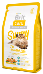 Brit Care Cat Sunny I´ve Beautiful Hair mačja hrana za čudovito dlako, 7 kg