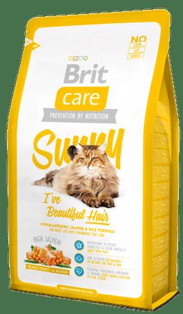 Brit Care Cat Sunny I´ve Beautiful Hair mačja hrana za lepšo dlako,2 kg