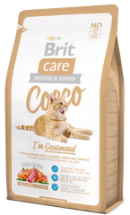 Brit Care Cat Cocco I´am Gourmand gurmanska mačja hrana, 2 kg