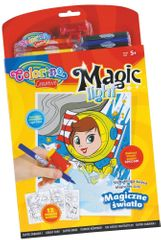 Omalovánky Colorino Magic light - 12 motivů