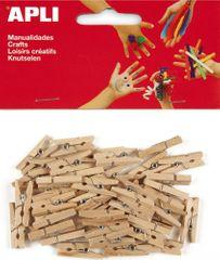 Kolíčky dřevěné APLI přírodní/45 ks