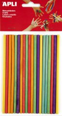 Špejle APLI barevný mix 150x průměr 5 mm/25 ks