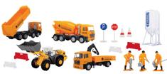 DICKIE Zestaw pojazdów budowlanych 4 Pojazdy: Wywrotka Betoniarka Koparka Hds 3315395