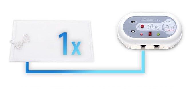 Baby Control Digital Monitor dechu 1 podložka + Dárek DVD - První pomoc dětem