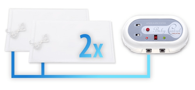 Baby Control Digital Monitor dechu 2 podložky