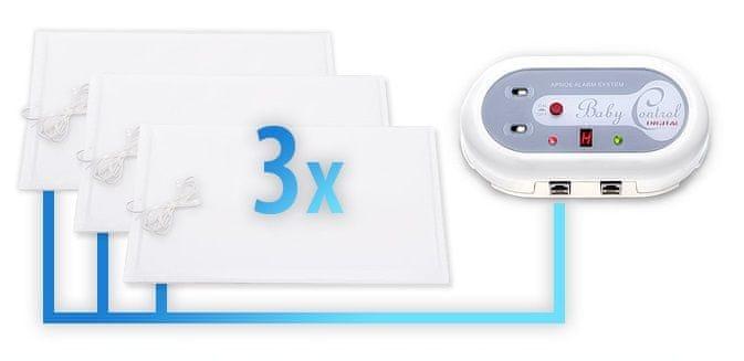 Baby Control Digital Monitor dechu 3 podložky + Dárek DVD - První pomoc dětem