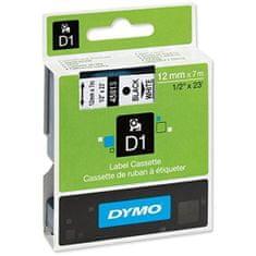 Dymo trak za tiskanje nalepk D1, širina 12mm/7m, 450130, črno/bel