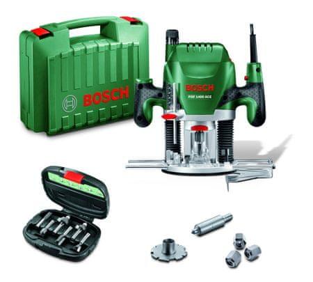 Bosch rezkalnik POF 1400 ACE + 6-delni pribor (060326C801)