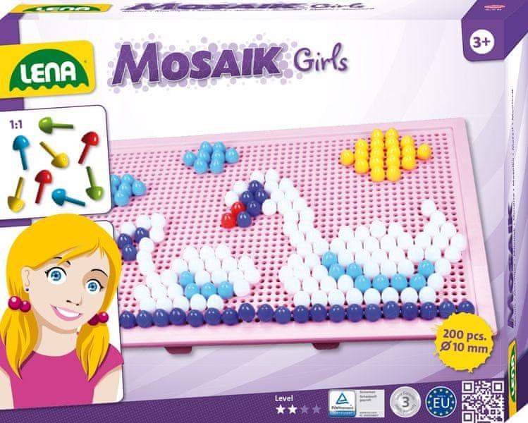 LENA Mozaika velká pro holky