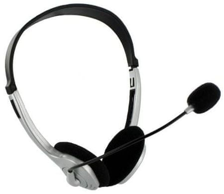 4World Headset hangerőszabályzóval, Szürke