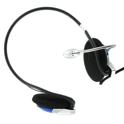 4World Sluchátka s mikrofonem na záhlaví, regulace hlasitosti, provázkový kabel