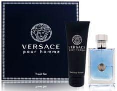 Versace Zestaw Pour Homme EDT 100 ml + Żel pod prysznic 100 ml