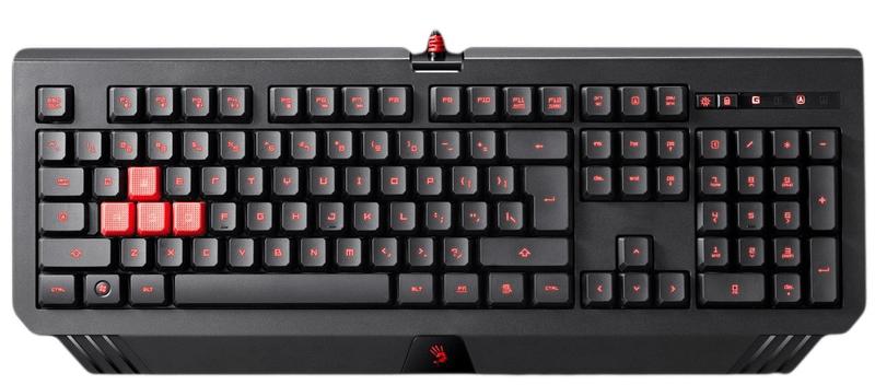 A4Tech Bloody B120 podsvícená herní klávesnice, USB, CZ - II. jakost
