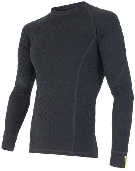Sensor Double Face Merino Wool triko pánské dlouhý rukáv černá L