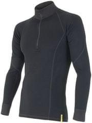 Sensor Double Face Merino Wool triko pánské dlouhý rukáv se zipem