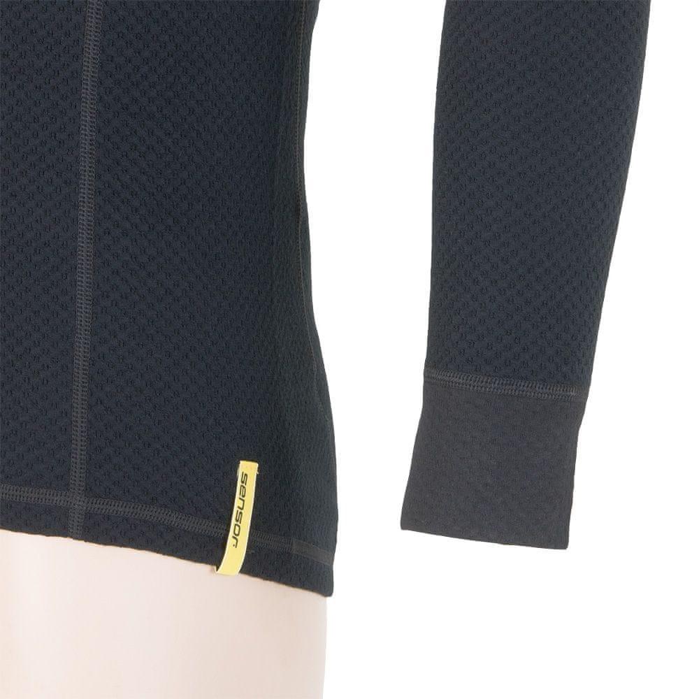 Sensor Double Face Merino Wool triko pánské dlouhý rukáv se zipem černá XL