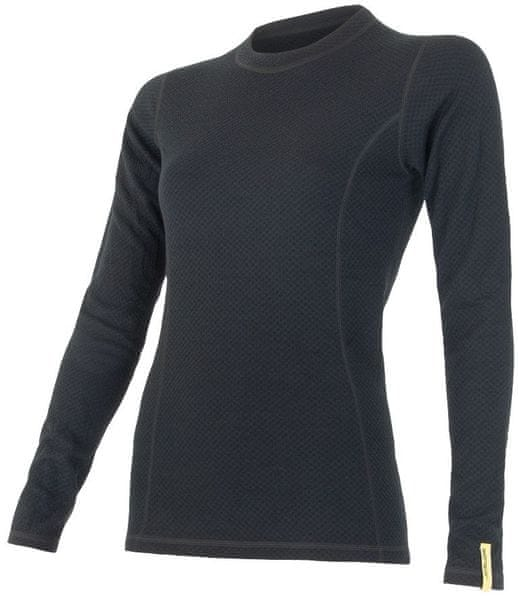 Sensor Double Face Merino Wool triko dámské dlouhý rukáv černá M