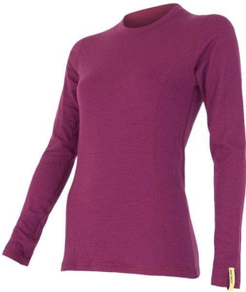 Sensor Double Face Merino Wool triko dámské dlouhý rukáv lila XL