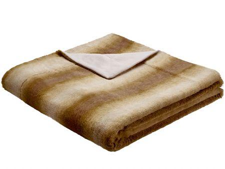 Biederlack odeja Taiga, 150 x 200 cm, rjava