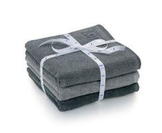 Kela sada 3ks ručníků LADESSA - šedá