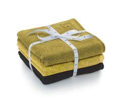Kela sada 3ks ručníků LADESSA - žlutá