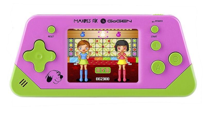 GoGEN Herní konzole 2,5´´ LCD displej - 80 her fialová