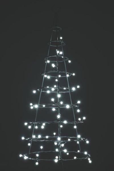 Emos Vánoční, řetěz 200 LED, 20m, kuličky, studená bílá