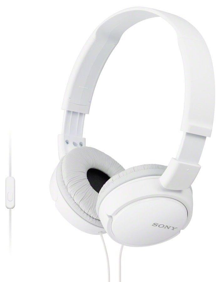 Sony MDR-ZX110APW sluchátka s mikrofonem (White)