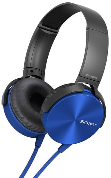 Sony MDR-XB450AP, modrá - II. jakost