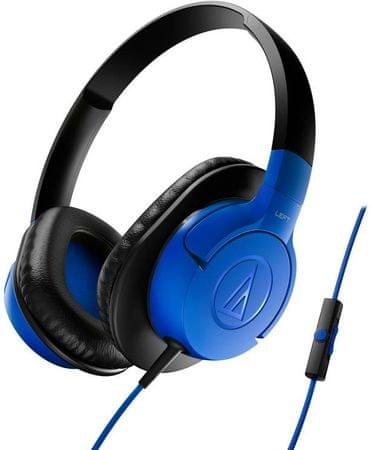 Audio-Technica ATH-AX1iS Fejhallgató, Kék