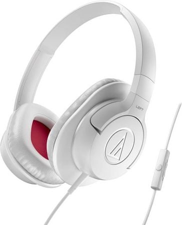 Audio-Technica ATH-AX1iS Fejhallgató, Fehér