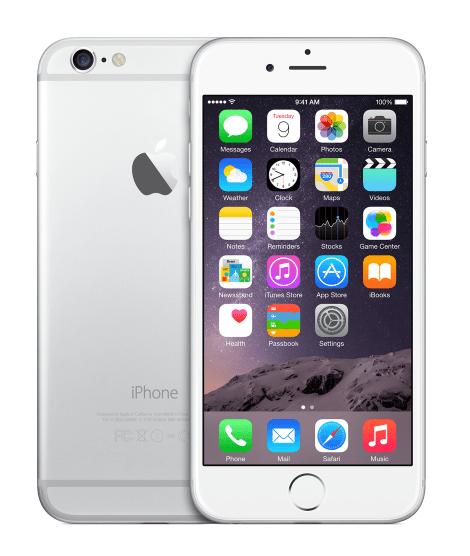 Apple iPhone 6, 16 GB, stříbrný