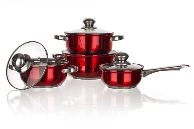 Banquet 8-dílná sada nerez nádobí MAESTRO Red