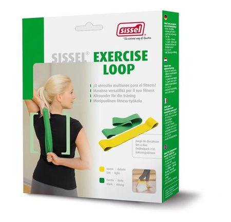 Sissel elastični trak Exercise Loop, Set 2 rumen in zelen