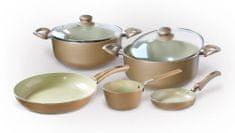 Toro Sada 7 ks nádobí s keramickým povrchem, champagne