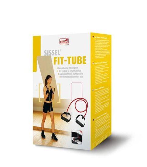 Sissel elastična cev Fit-tube, rdeča / srednje lahka