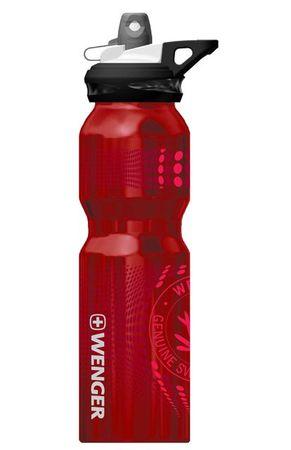 Wenger bidon Sport top 800 ml, alu, rdeč