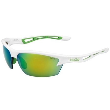 Bollé sončna očala Bolt S Shiny White Green Edge Brown, belo-zelena