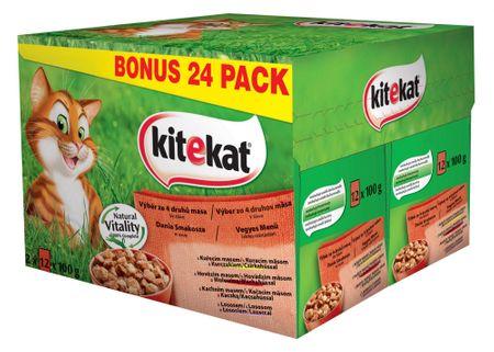 Kitekat Mix Menü - 24 db alutasakos macskaeledel szettben