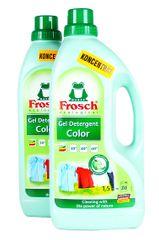 Frosch Eko pralni gel za barvno perilo, 2x1,5 l